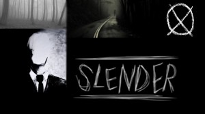 A sketch of Slenderman, along with some disturbing photos of him in the woods and the 'Operator' symbol. (Photo Illustration: Lindsay Breslin)