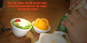 Many say the new federal lunch law stinks like rotten fruit