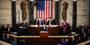 President Barack Obama gives his State of the Union address during a joint session of Congress on Capitol Hill in Washington, D.C., Tuesday, February 12, 2013. (Olivier Douliery/ Abaca Press/ MCT)