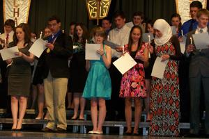 National Honor Society passes the torch to 53 new members