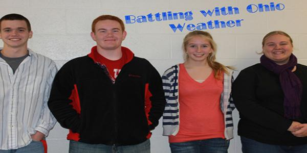 Sporting this years winter fashions are Matt Miller, Matt Chandler, Samantha Dalton and Megan Florence.