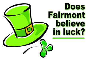Irish or not ... only some believe in luck