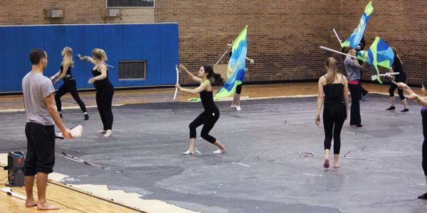 Winter Guard twirls its way to finals at Nutter Center