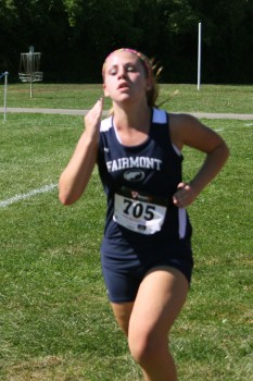 Fairmont's Girls' Cross Country runners compete in the Neal Charske Firebird Invitational.