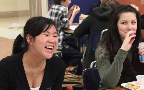 Junior Duong Lien (left) came from France to study for a year at Kettering Fairmont High School.