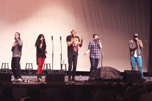 Pentatonix perfoms for the Fairmont audience on Friday, Nov. 8, 2013 as part of the Kettering National High School A Cappella Festival. They wow the guests with their talent and energy.
