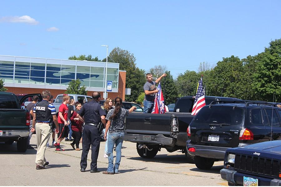 Fairmont students rally after school in the main parking lot at Fairmont High school.