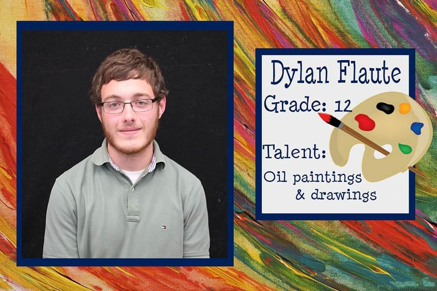 October's Artist of the Month is Dylan Flaute, a Fairmont senior recognized for his oil paintings and drawings.