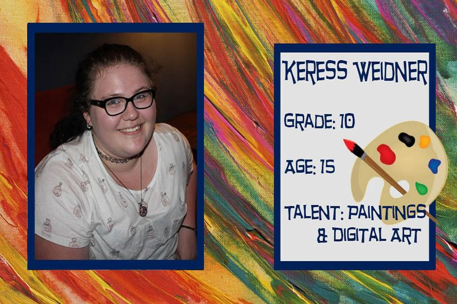Sophomore+Keress+Weidner+has+been+selected+due+to+her+artistic+skills+that+convey+meaningful+messages.+