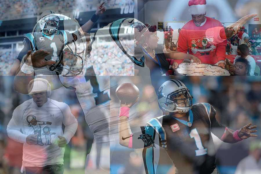 Cam's Newton's accomplishments and positive actions have been overshadowed by the negative appearance the media has created.  (Photos: Streeter Lecka/Getty Images; Jeremy Igo; Yong Kim; Steve Helling)