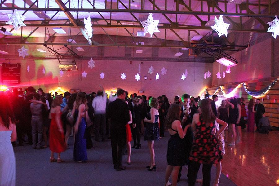 Students at Winter Formal get down to a well-known song, Shut Up and Dance by Walk the Moon.