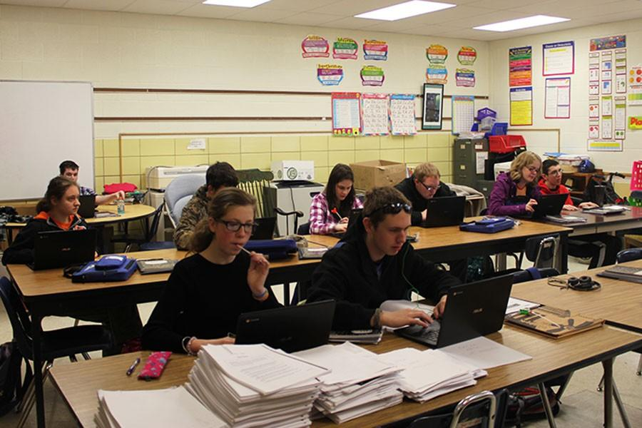 Fairmont Industries students work hard during class.