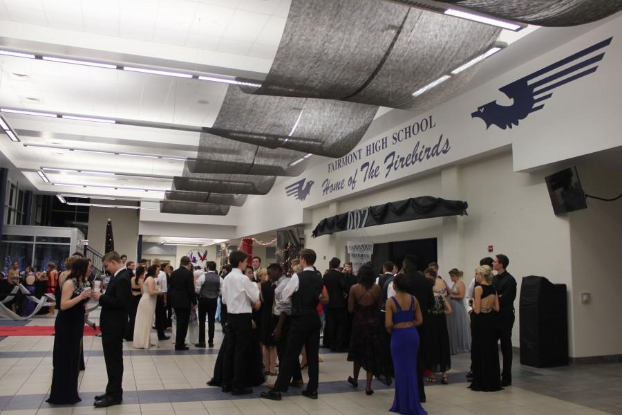 The lobby of the