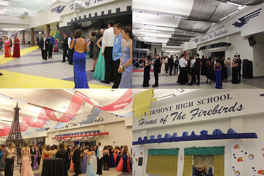 The diversity of dance themes over the years at Fairmont High School.