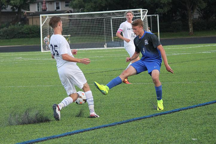 Sophomore James Molnar stole the ball from the Boro opponent.