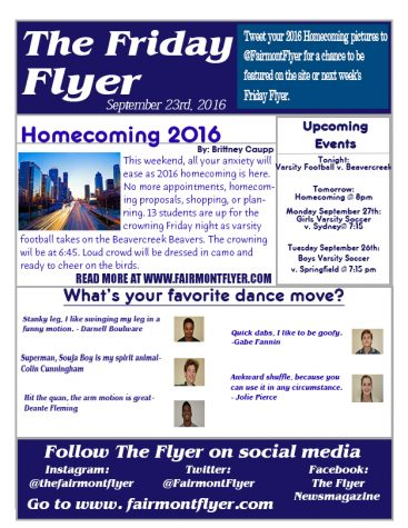 9/23/16 - Homecoming Edition