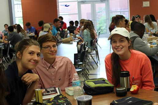 Juniors, Jacob Danielson, Kasey Mullins, and Grace Oldfield look sophisticated for prep day.