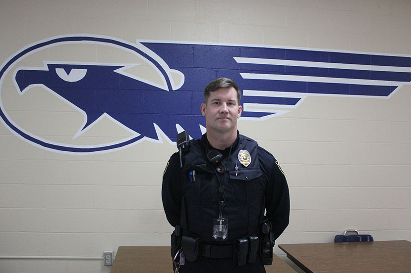 Resource Officer at Fairmont High School, Edward Drayton.