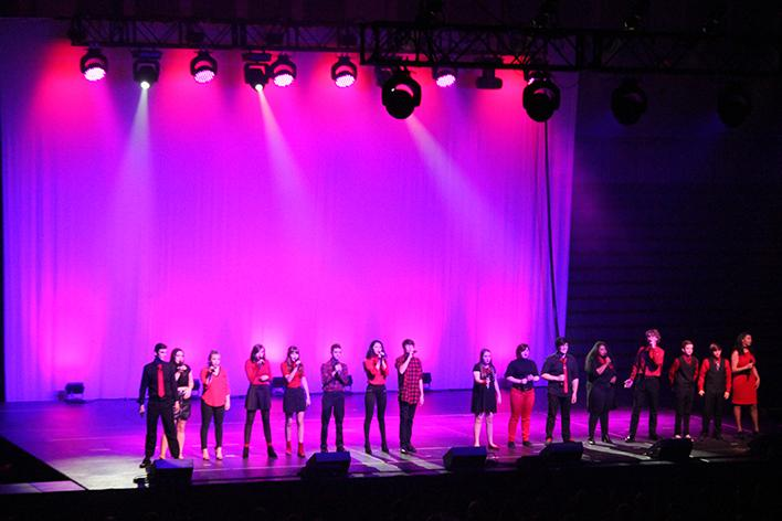 Fusion ending a great set at Kettering's Annual A Cappella Fest.