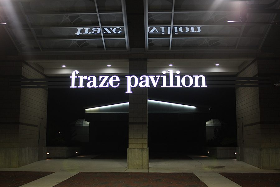The Fraze Pavilion holds it annual Christmas lighting.