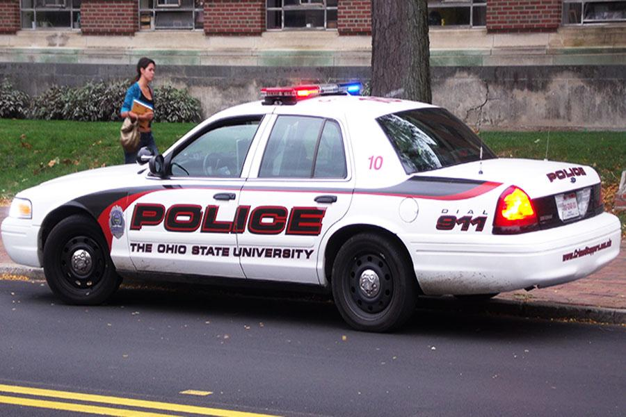 Police on the scene of the OSU stabbing.
