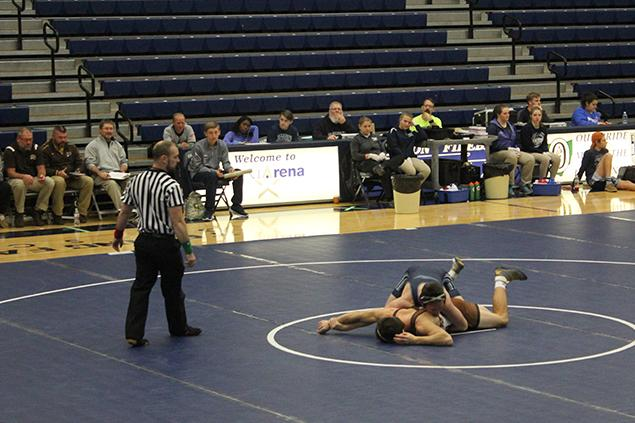 Senior%2C+Ben+Smith%2C+wrestling+in+weight+class+170.++Ben+Smith+pinned+his+opponent+from+Western+Brown.