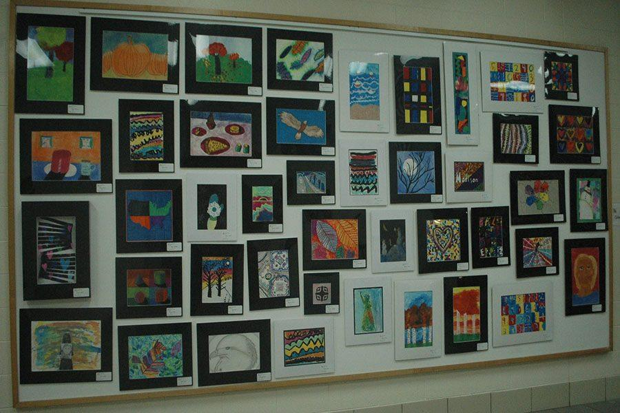 Multiple pieces of art are presented at Fairmont.