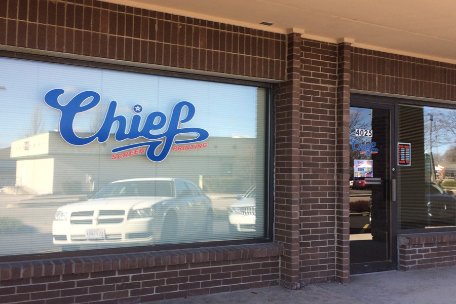 Chief Screen Printing is located at 4025 Marshall Rd, Kettering, OH 45429.