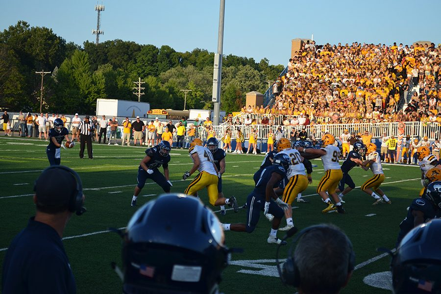 Ryan Hall forced to punt the ball after a failure to convert on third down.