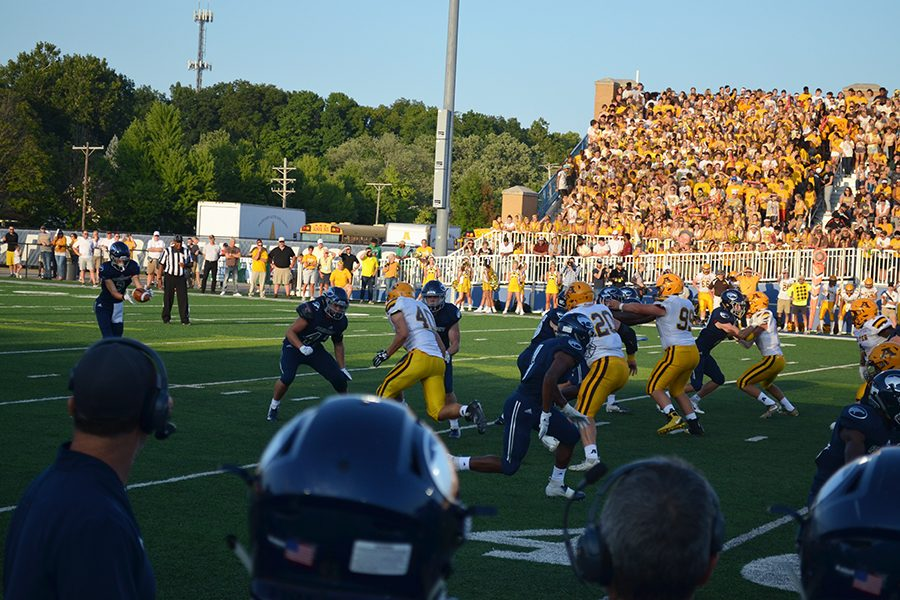Fairmont is forced to punt the football in the first quarter after the offense comes up short on third down.