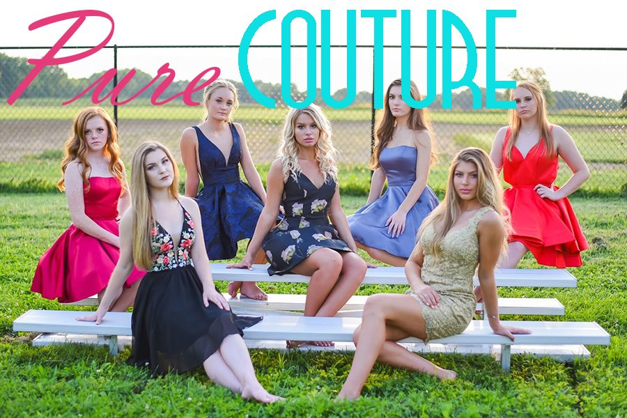 Pure+Couture+influencers+model+the+popular+2018+homecoming+dresses+and+styles.+