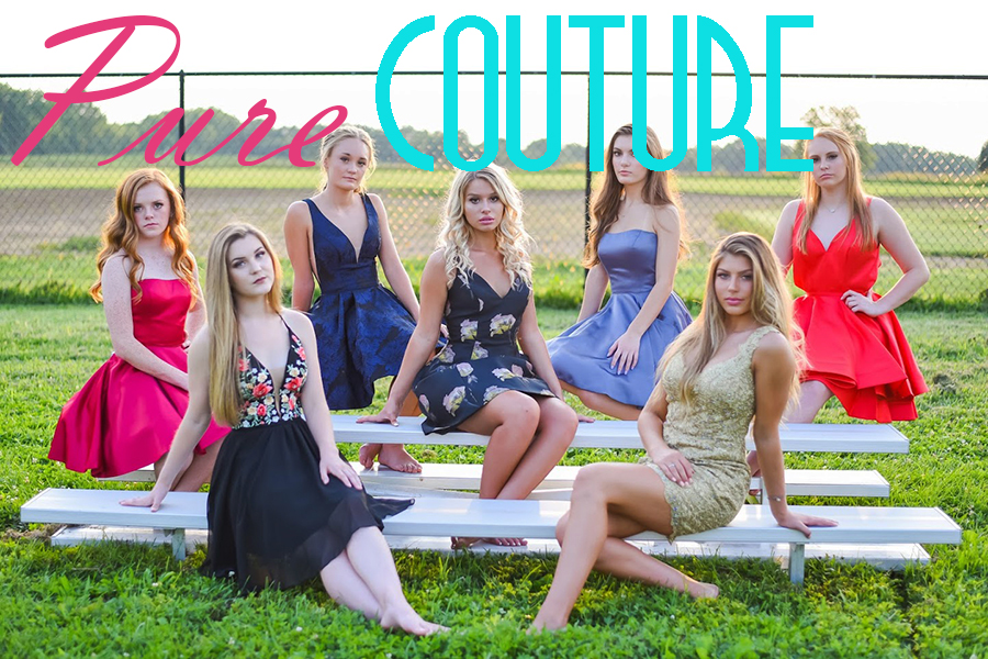 Pure Couture influencers model the popular 2018 homecoming dresses and styles.