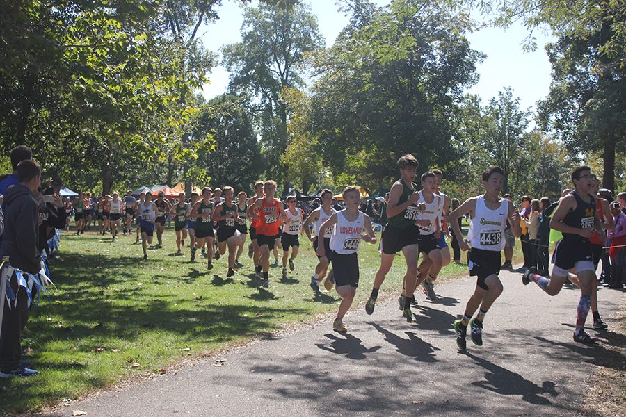 Cross Country runners from all over Ohio bolt to try to get a good time at the annual Firebird Invite.