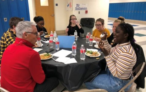Fairmont students eat dinner and have discussion with adults from their community. After attending one Supper Club event, many students request to attend again.